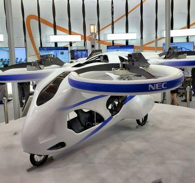 NEC Flying Car Puts Drone Air Traffic Control To The Test