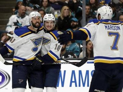 Blues defence provides plenty of offense as St Louis even series with Game 2 victory over Sharks