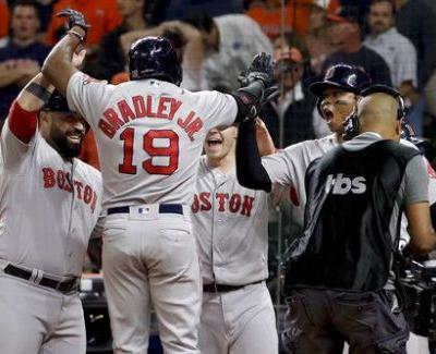 Bradley's grand slam helps Red Sox beat Astros 8-2 in ALCS