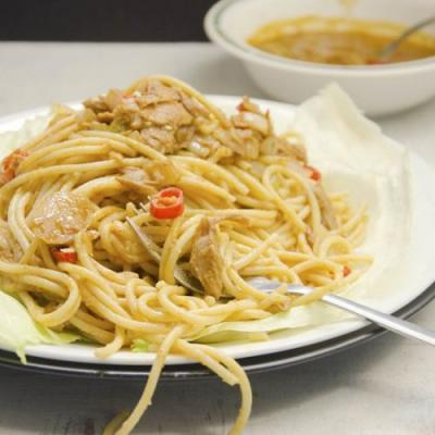 Tom Yum Noodles with Tuna Flakes