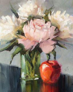 PEONIES, FLORAL STILL LIFE by TOM BROWN