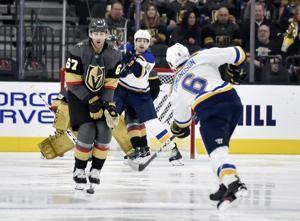 Blues beat Golden Knights 4-1 in Perron's return to Vegas