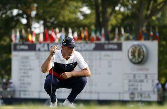 The Latest: Kodaira delivers first eagle of PGA Championship