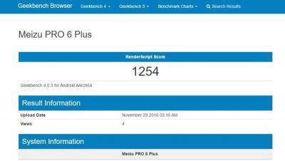 New Geekbench Listing Features Meizu PRO 6 Plus