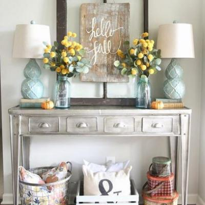 49 Unique How to Decorate A Console Table Pictures