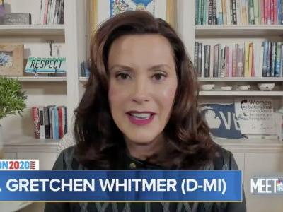 Gretchen Whitmer accuses Trump of inciting 'domestic terrorism' after his supporters chanted 'lock her up' at his rally following a foiled plot to kidnap her