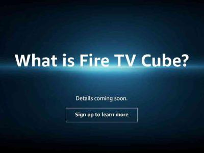 Amazon begins teasing Fire TV Cube