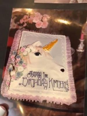 Kim Kardashian's First Birthday Cake Is Everything You'd Think It Would Be & More