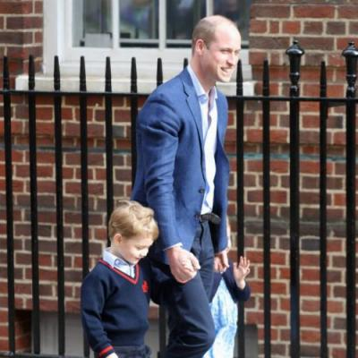Prince George And Princess Charlotte Visit Their Brand-New Baby Brother