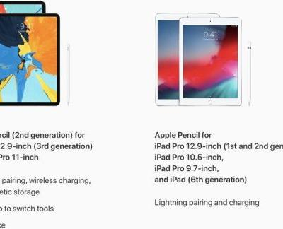 Apple Pencil 2 Not Compatible With Older iPads and Original Apple Pencil Won't Work With New Models