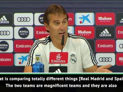 Hard to compare Spain and Real Madrid teams - Lopetegui