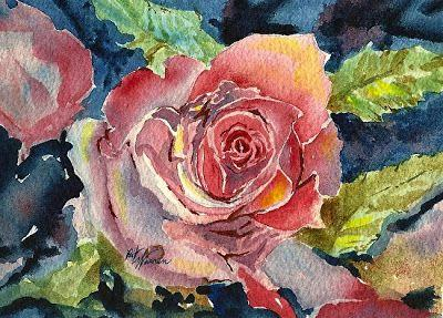 "Floral Art Rose Painting,Flower Art ""My Rose"" by Georgia Artist Pat Warren"