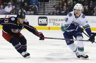Blue Jackets' late lead slips away in 3-2 loss to Canucks
