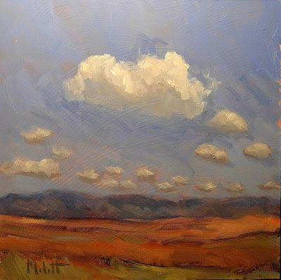 Southwest Landscape Desert Contemporary Landscape 8x8 in
