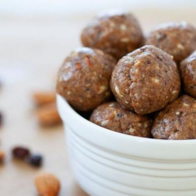Almond Butter and Jelly Energy Ball