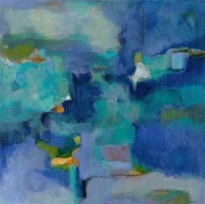 "Contemporary Art, Abstract Painting, Expressionism, Fine Art For Sale ""THE BORDERLAND BETWEEN WAKEFULNESS AND DREAMS"" by Contemporary Artist Liz Thoresen"