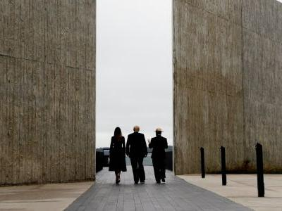Trump said his visit to the Flight 93 memorial for 9/11 victims gave him inspiration for his border wall