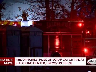 Fire crews respond to fire at Salem recycling plant