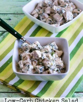 Low-Carb Chicken Salad with Basil and Parmesan