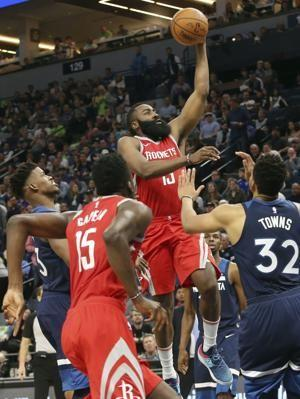 Rockets use 50-point 3rd quarter to blow out Timberwolves