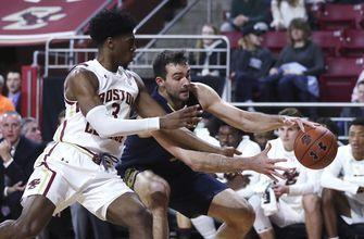 Gibbs scores with 0.1 seconds left, Irish beat BC 62-61