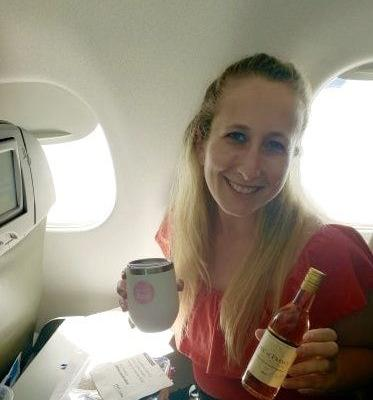 I Went On JetBlue's Up, Up, And Rosé! Wine Tasting & Sipped In The Sky