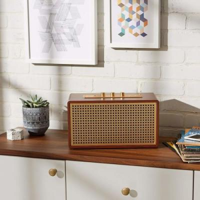 Play tunes on the AmazonBasics Vintage Bluetooth speaker and save $30