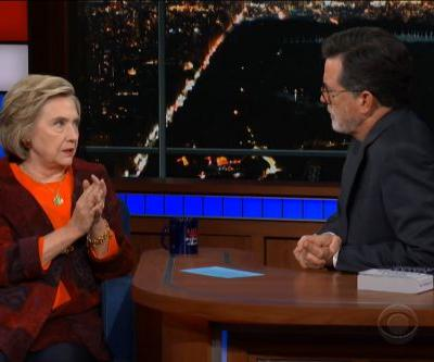 """Hillary Clinton Scolds Republicans For """"Trying To Rush"""" Kavanaugh Election On 'Late Show with Stephen Colbert'"""