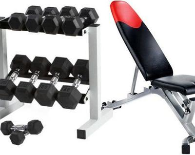 Daily Deal: Get an Essential Bench and Dumbbell Set for $50 Off Each