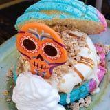 Disneyland's Day of the Dead Ice Cream Sandwich Is Made With Multi-Colored Pan Dulce!