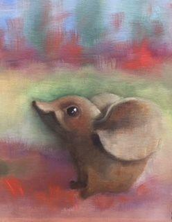 "Fine Art Oil Painting, Mouse, ""Sweet Mouse"" by Illinois Artist Marilyn Weisberg"