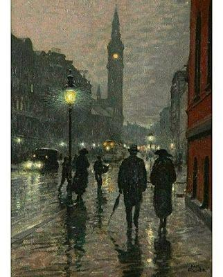 Paul Gustave Fischer, Evening West Rampart Street, Copenhagen