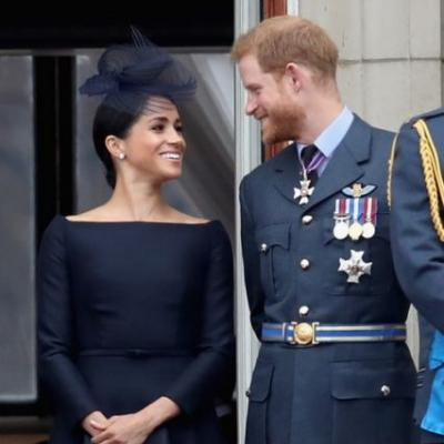 """Meghan Markle's """"Something Blue"""" Paid Homage To This Sweet Moment With Prince Harry"""