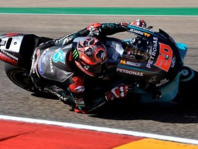 Fabio Quartararo Sets Fastest Lap In Qualifying For Aragon After MotoGP Practice Crash