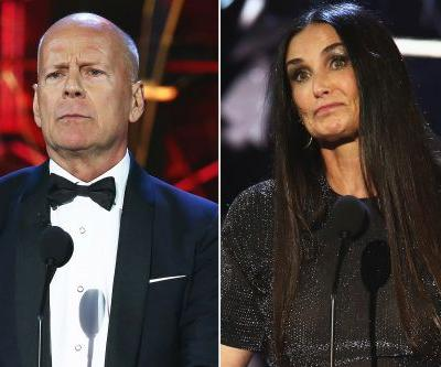 Bruce Willis roast gets surprise visit from Demi Moore