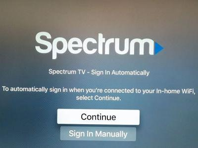 Zero Sign-on now live on Apple TV, but Spectrum TV app delayed to 2019