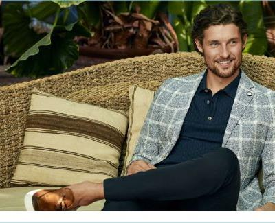 Wouter Peelen Charms in Chic Spring Fashions from Lufian