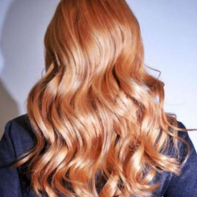 Peach Is the Trendy Hair Color to Try This Fall