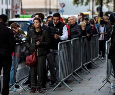 The lines to buy a new iPhone on launch day are shorter than they were last year