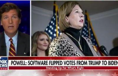 Doubling down: Tucker claims other Trump's legal team members yet to see evidence on rigged election software from Sidney Powell