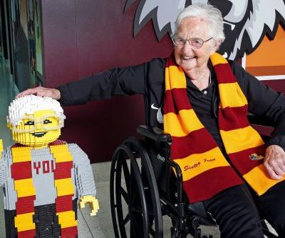 Loyola's Sister Jean celebrates 100th birthday with her own LEGO statue