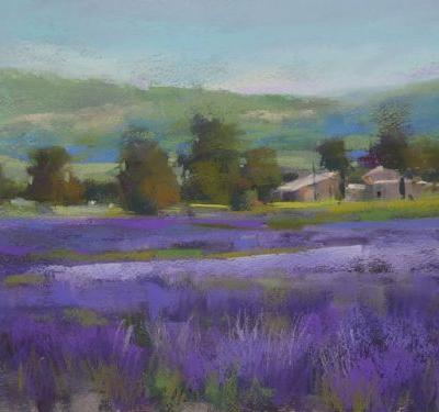 Painting Lavender on Canson Paper
