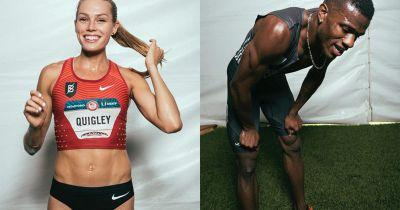 Portraits of 3rd and 4th Place Finishers at the Olympic Track and Field Trials
