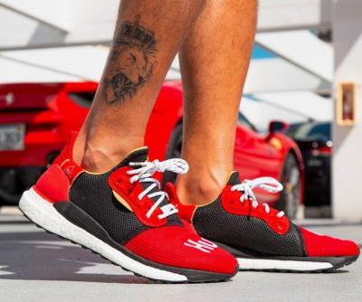 On-Foot Look at the Pharrell x adidas Solar Hu Glide Chinese New Year Edition