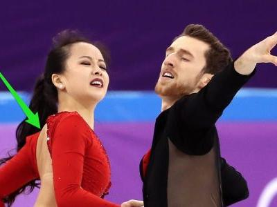 South Korean figure skater suffered a 'wardrobe malfunction' 5 seconds into her Olympic debut and handled it with aplomb