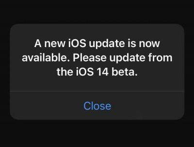 'A New iOS Update is Now Available' Popping Up Repeatedly in iOS 14 Beta
