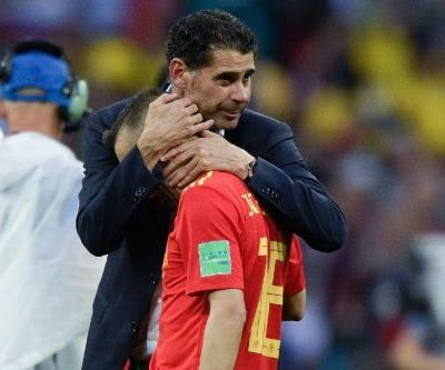 Hierro dodges questions on future after Spain World Cup defeat