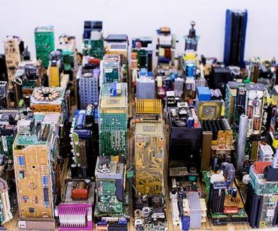 This New York City Scale Model Is made of Recycled Motherboards