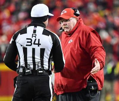 Andy Reid took issue with refs calling Dee Ford offsides: 'Normally you're warned'
