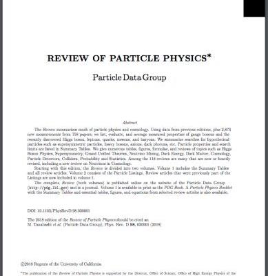 American Physical Society Publishes 60th Anniversary Edition of the Review of Particle Physics